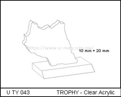 U TY 043 TROPHY - Clear Acrylic