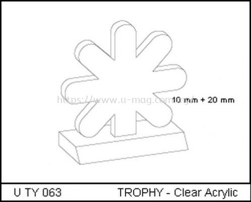 U TY 063 TROPHY - Clear Acrylic