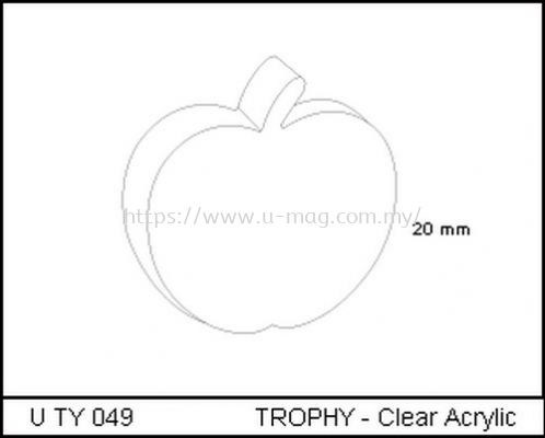 U TY 049 TROPHY - Clear Acrylic