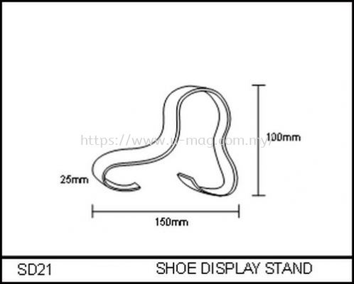 SD21 SHOE DISPLAY STAND