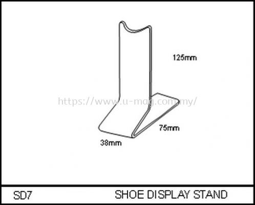 SD7 SHOE DISPLAY STAND