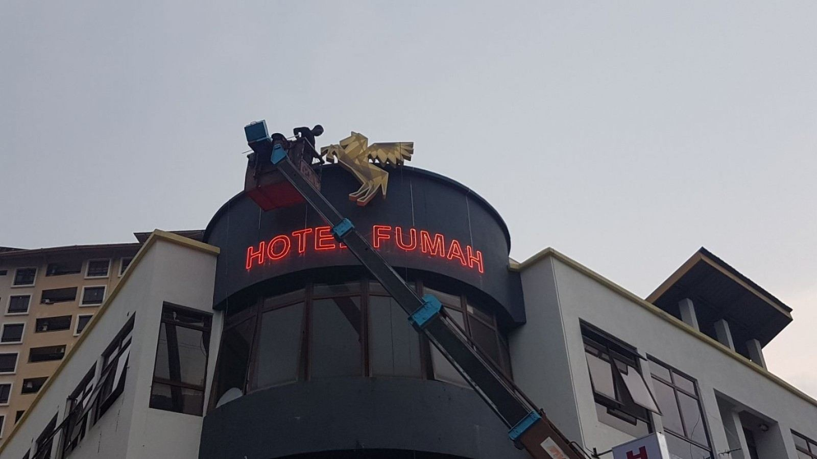 Hotel Fumah Neon Sign