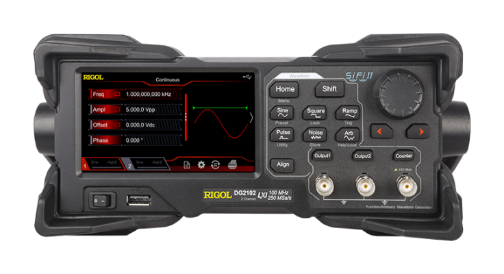 Rigol DG2072 - Two Channel, 70 MHz Function / Arbitrary Waveform Generator