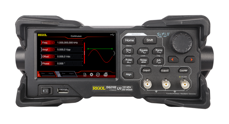 Rigol DG2072 - Two Channel, 70 MHz Function / Arbitrary Waveform Generator Function/Arbitrary Waveform Generator Rigol