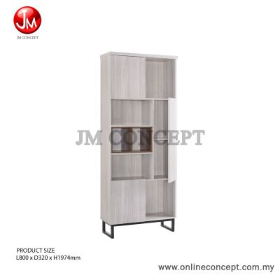 Brand: JM Concept Jarvy (S) Book Shelf / File Cabinet / Multi Function Storage