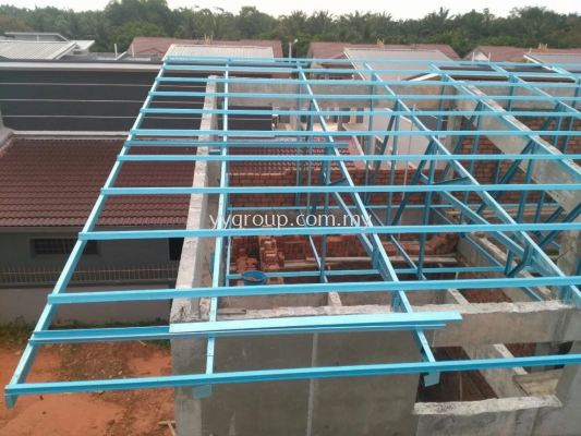 10 units terrace house light weight truss works at Muar, Johor Bahru