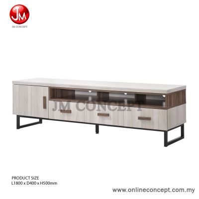 JM Concept 6FT Jarvy TV Cabinet / Storage Cabinet (L)