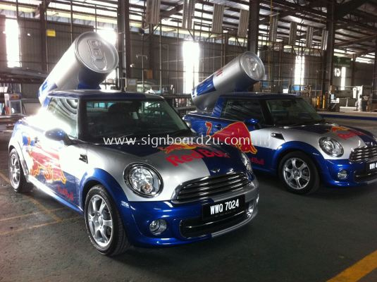 Red Bull Mini Cooper  body sticker design (3)