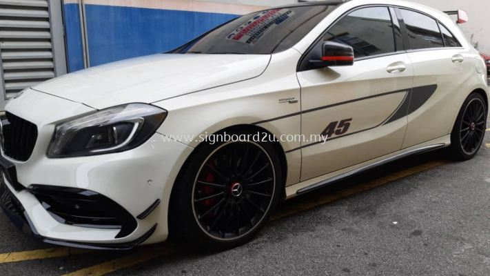 Mercedes-AMG A45 body sticker at klang selangor (2)