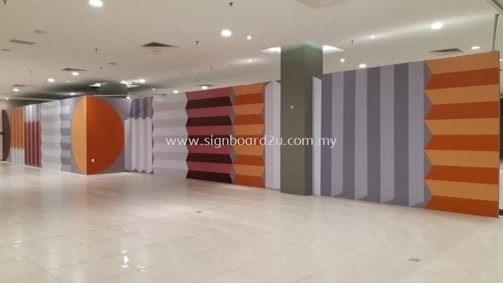 Inkjet Wallpaper Sticker at Quill city mall , kuala lumpur ,malaysia