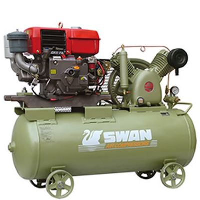 Swan HVU-203E Air Compressor with Yanmar L70 Diesel Engine 6.5HP, 12Bar, FAD270L/min, 960rpm,