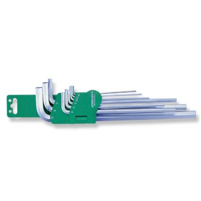 9PCS LONG ARM HEX KEY SET (SAE) (H02SM209S)