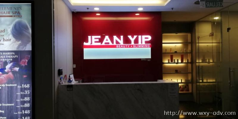 JEAN YIP Acrylic With LED Light Signboard