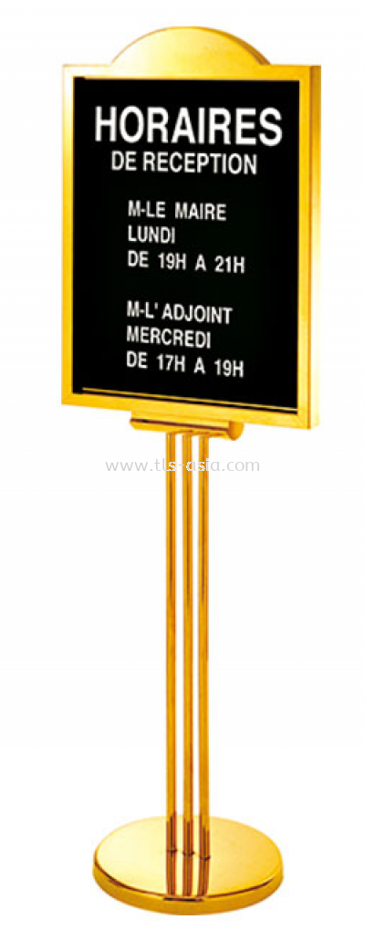 Lobby Sign Holder Stand, A3 Poster, Gold Color