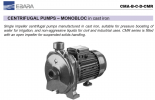 Ebara Monobloc In Cast Iron Pumps SMA-B-C-D-SMR Ebara Pumps