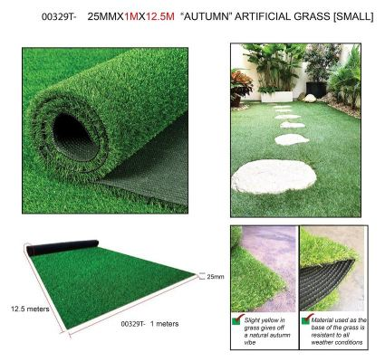 25MMX1MX12.5M  ARTIFICIAL GRASS [SMALL] -00329T