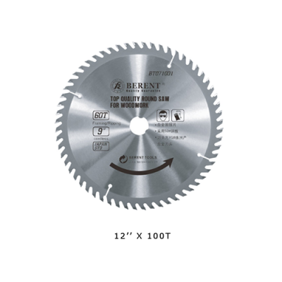 """BT 12"""" X 100T H/D WOOD CIRCUL  SAW BLADE - BT7015"""