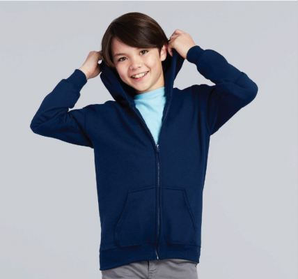 Youth Full Zip Hooded Sweatshirt 88600B