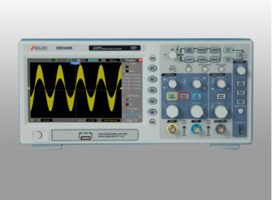 Saluki DSO2000 Series Oscilloscope (70/100/200MHz)