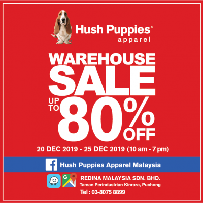 Hush Puppies Apparel Warehouse Sales 2019