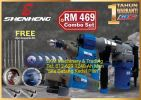 ShenHeng Combo Set(Angle Grinder, Rotary Hammer & Hand Drill) Free 20pcs Accessories Kits SH3469  Promotion 2019