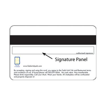 Signature Panel