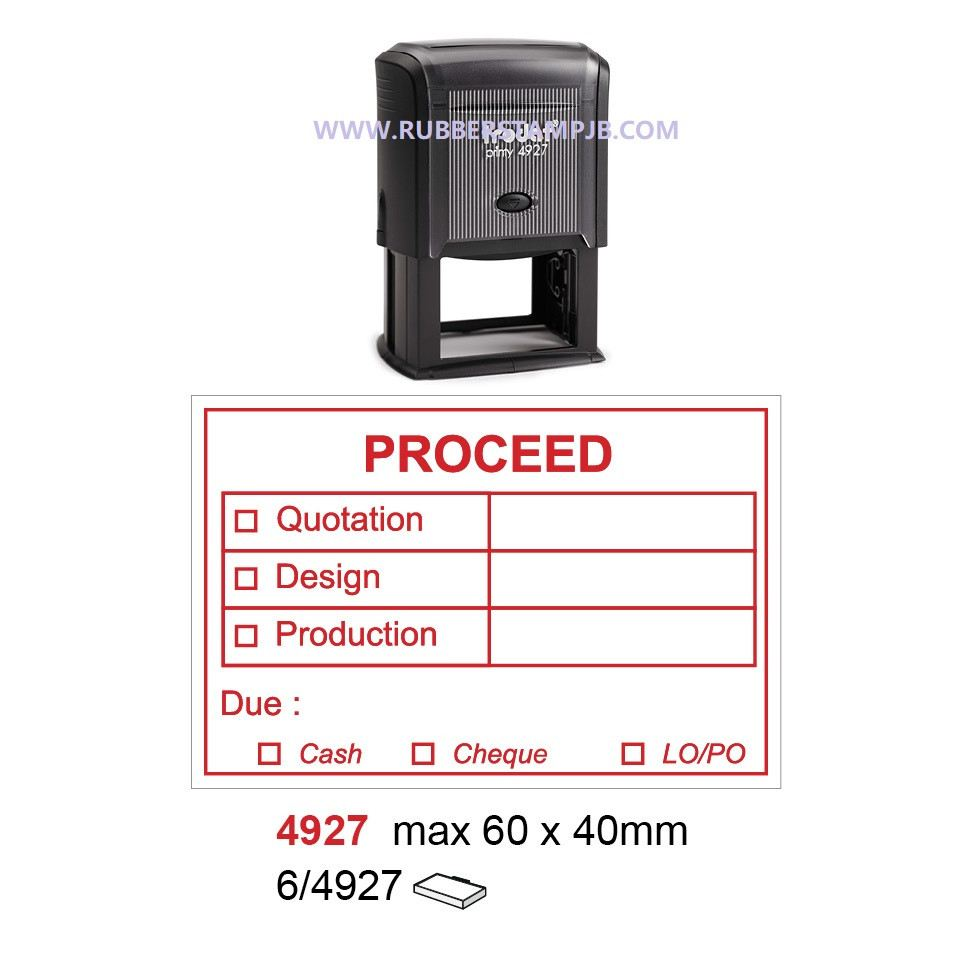 17. Production used Rubber Stamp  4927