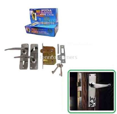 FUDA 2 LEVER MORTICE DOOR LOCK