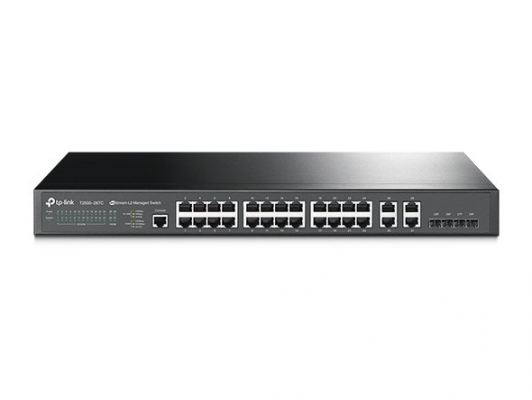 T2500-28TC. TPlink JetStream 24-Port 10/100Mbps + 4-Port Gigabit L2 Managed Switch