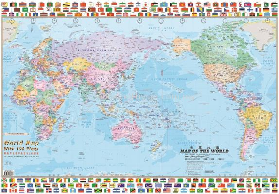 WORLD MAP & FLAGS