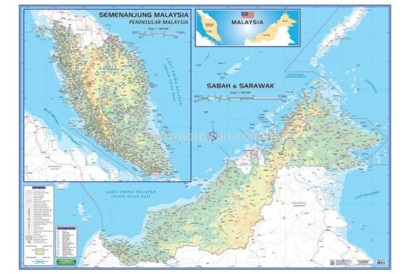 MAPS OF MALAYSIA - EAST & WEST