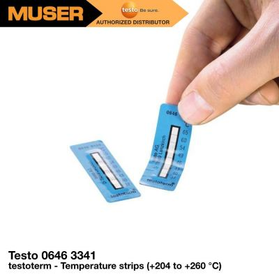 Testo 0646 3341 | testoterm - Temperature strips ( 204 to  260 ��C)