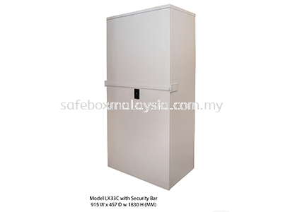 Full Height Steel Cupboards Security Bar LX33C