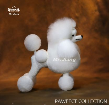 Mr. Jiang Poodle Continental Clip Whole body Wig in white (without mannequin)