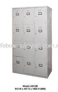 12 Compartment Steel Locker