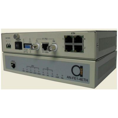 Framed E1 to 4 Ethernet Converter with Local Network Managment System