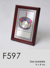 F597 Wooden Plaques & Velvet Box Trophy