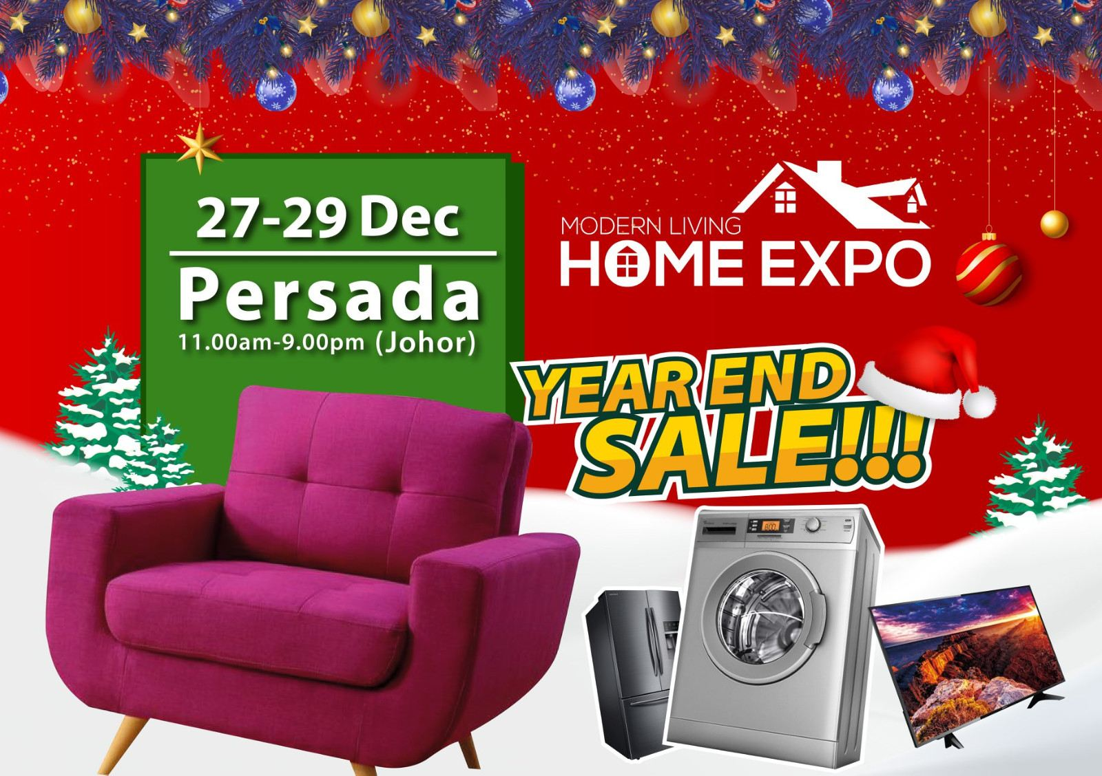 Modern Living Home Expo @Persada, 27-29 Dec 2019