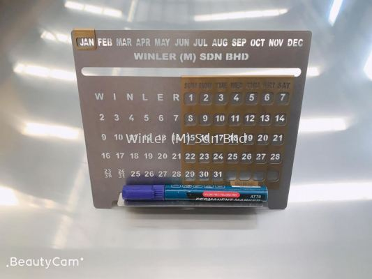 PVD Titanium Coating Steel Calendar