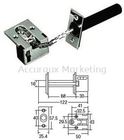 Safety Recessed Door Chain