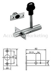 Single Security Dead Bolt With Key PVC Cover