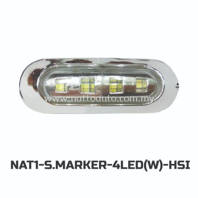 12V/24V Truck Bus LED Side Marker Lamp  (WHITE)  4LED(WHITE)