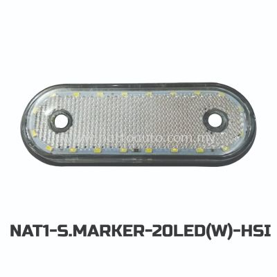 12V/24V Truck Bus LED Side Marker Lamp  20LED(WHITE)