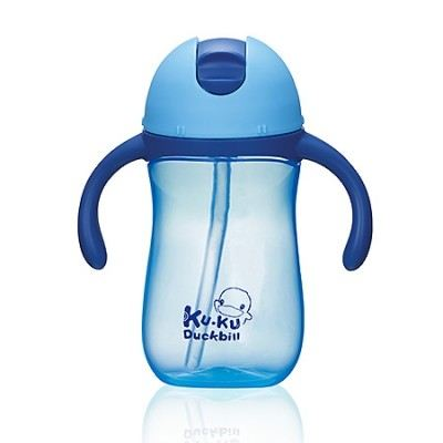 KUKU DUCKBILL PP TRAINING CUP BLUE 260ML (KU5485)