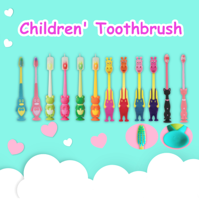 Toothbrush for Kids with Suction Cup Base & Anti Slip