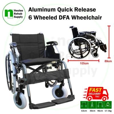 NL-FS957LQ-46 Aluminum Quick Release 6 Wheeled DFA Wheelchair