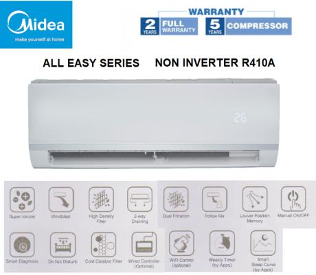 Midea 1.0HP Non-Inverter Air Conditioner