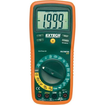 EXTECH EX410A Handheld Digital Multimeter, Average, 10A, 600V