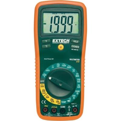 EXTECH EX410A Handheld Digital Multimeter, Average, 10A, 600V