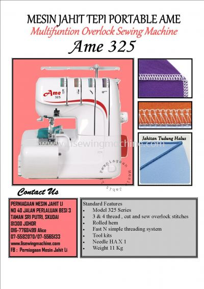 AME - Mesin Jahit Portable ~ Home sewing Machine